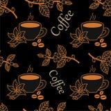 Coffee pattern. Royalty Free Stock Image