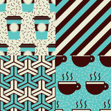 Coffee Patterns Royalty Free Stock Image