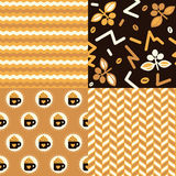 Coffee Patterns Stock Photography