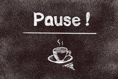 Free Coffee Pause Chalk Word On Blackboard Background. Coffee Break Concept Stock Image - 211088331