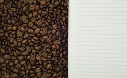 Coffee and peper background Stock Photos