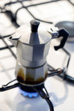 Coffee percolator on a hotplate Royalty Free Stock Photography