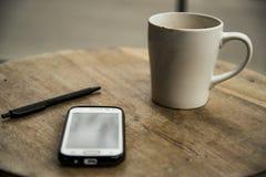 Coffee and phone Stock Photo