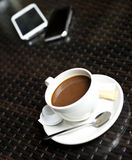 Coffee and Phones Royalty Free Stock Images