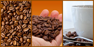 Coffee - photo collage Royalty Free Stock Images