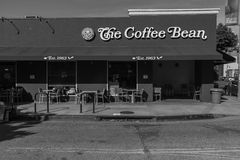 Coffee Pico Boulevard West Los Angeles Black and White Stock Images