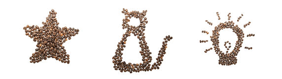 Coffee pictures Collection Royalty Free Stock Photography