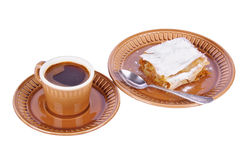 Coffee and pie Royalty Free Stock Photography
