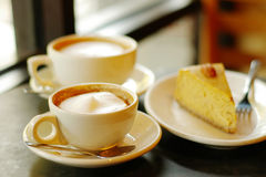 Coffee and pie stock image
