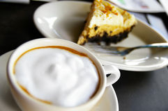 Coffee and pie Royalty Free Stock Image