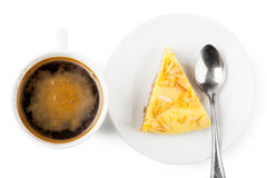 Coffee and pie Royalty Free Stock Images