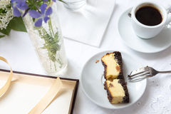 Coffee and piece of cake Royalty Free Stock Images