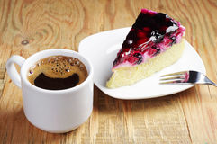 Coffee and piece of cake Royalty Free Stock Photos