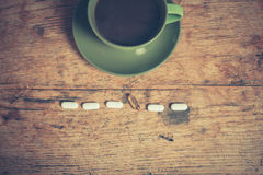 Coffee and pills Royalty Free Stock Photo
