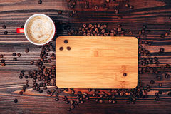 Coffee and place for text Royalty Free Stock Photography