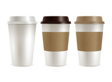 Coffee Plastic Covers Set Royalty Free Stock Photo
