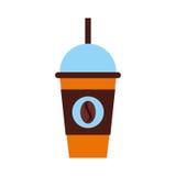Coffee plastic cup icon Stock Photos