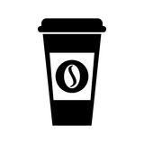Coffee plastic cup icon. Vector illustration design Royalty Free Stock Photos
