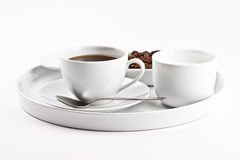 Coffee on plate Royalty Free Stock Image