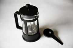 Coffee plunger Stock Photo