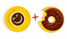 Coffee plus donut Stock Photography