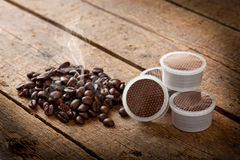 Coffee pods Stock Images