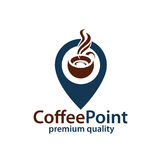 Coffee point icon Stock Photography