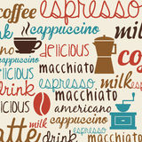 Coffee poster Royalty Free Stock Photos