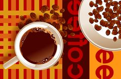 Coffee Poster Abstract Stock Images
