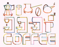 Coffee Poster Stock Photos