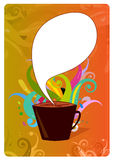 Coffee poster design Stock Photos