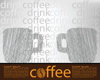 Coffee poster Stock Image