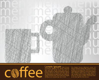 Coffee poster Royalty Free Stock Images