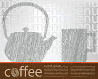 Coffee poster Stock Photo