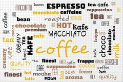 Coffee poster. With text Royalty Free Stock Photography
