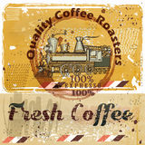 coffee poster train coffee grains grunge retro background quality fresh 90188170 Plastic Coffee Cups Watercolor Coffee In Plastic Cup Stock Vector Image