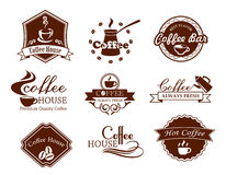 Coffee posters and banners set Royalty Free Stock Image