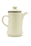 Coffee pot. Porcelain coffee pot on white background Stock Image