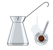 Coffee pot. Vector illustration isolated on white background Royalty Free Stock Photo