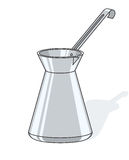 Coffee pot. Vector illustration isolated on white background Royalty Free Stock Photos
