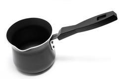 Coffee pot. Modern metallic kettle royalty free stock image