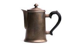 Coffee pot. Isolated on white background Royalty Free Stock Photography