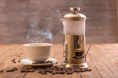 Coffee and pot Royalty Free Stock Photography