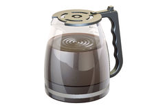 Coffee pot from coffeemaker with espresso, 3D rendering Royalty Free Stock Photos
