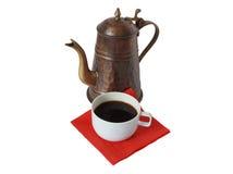 Coffee-pot con caffè Fotografia Stock Libera da Diritti