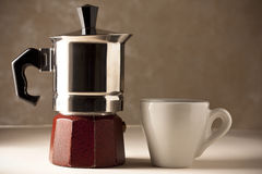 Coffee Pot with Cup Royalty Free Stock Images