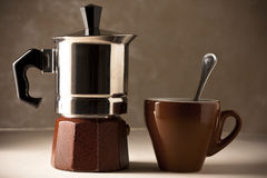 Coffee Pot with Cup Stock Photo
