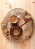 Coffee pot and cup coffee Royalty Free Stock Photos