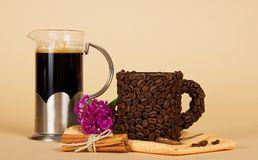 Coffee pot and cup Stock Photo