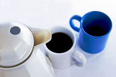 Coffee Pot & Cups Stock Image